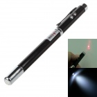 4-in-1 Retractable 5mW Red Laser Pen - Black + Silver (3 x LR41)
