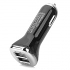 Dual USB Car Cigarette Lighter Plug Charger for Iphone / Ipad / Ipod Touch - Black (DC 12~24V)