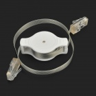 Portable RJ45 Male to Male Retractable Cable for Computer - White