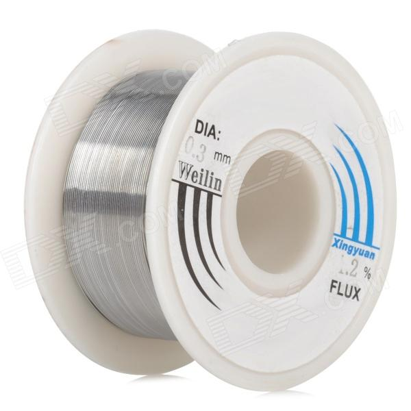 WLXY WL-0310 0.3mm Lead Tin Soldering Wire Wick Roll - SilverSoldering Supplies<br>ColorSilverPowerOthers,BrandWLXYModelWL-0310Quantity1 PieceMaterialTinPlug SpecificationsOthers,Packing List1 x 0.3mm Tin<br>