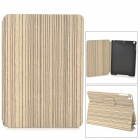 Wood Pattern Protective PU + PC Flip Open Case w / Stand / Auto-Sleep-AIR für Ipad