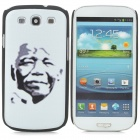 Nelson Mandela Pattern Protective PC Back Case for Samsung S3 i9300 - White + Black