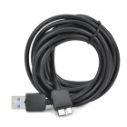USB 3.0 to Micro USB 9-Pin Data/Charging Cable for Samsung Galaxy Note 3 N9000 / N9005 - Black