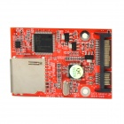 High Speed Dual-Chip SD to SATA Adapter Card - Red + Silver
