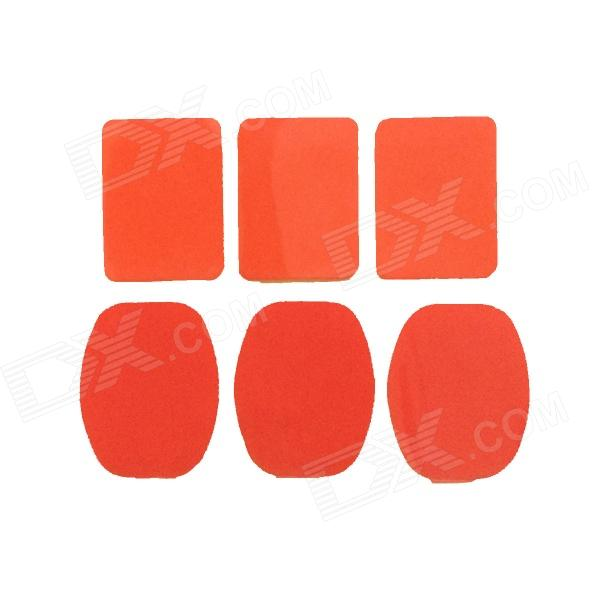 Square + Oval Super Glue Tape for Gopro Hero 4/ 1 / 2 / 3 / 3+ / SJ4000 - Red