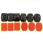Fixed Mount + Flat Camber Surface Super Glue for Gopro Hero 1 / 2 / 3 / 3+ / SJ4000 (6 PCS)