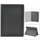 Protective Flip Open PU + Plastic Case w/ Stand for Ipad AIR - Black