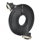 VGA Male to Male 1080P HD Flat Cable for PC / Projector - Black (500cm)