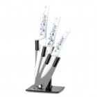 "Bestlead 4"" / 5"" / 6"" Ceramics Knife Set - White + Deep Blue"