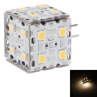 SOBO G4 3W 330lm 3000K 20-SMD 2835 LED Warm White Light Lamp - Silver + White (9~24V)