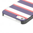 Protective PC Back Case for Iphone 5 / Iphone 5S - White + Deep Blue