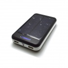 "Solar Powered ""13800mAh"" External Battery Charger Power Source Bank for Samsung - Black + White"