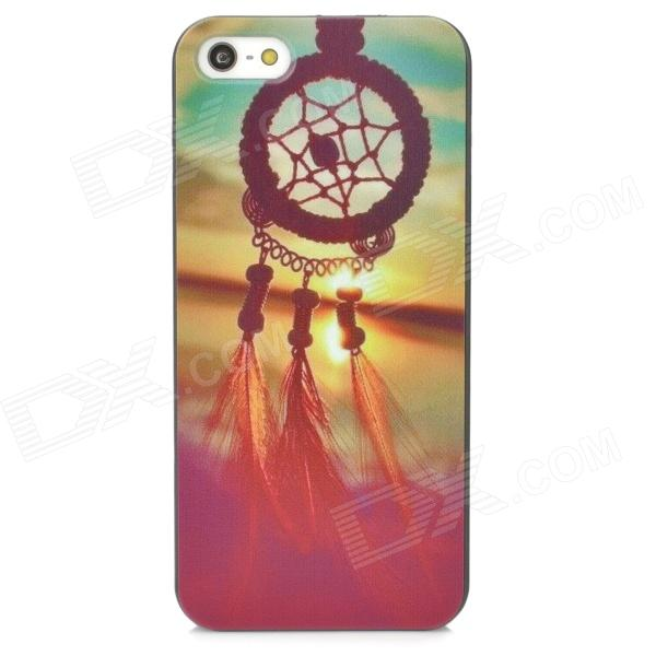 Relief Wind Bell Style Protective PC Back Case for Iphone 5 / 5s - Black + Light Yellow