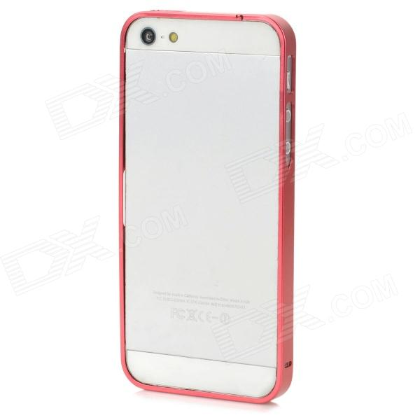 S-What Ultrathin Protective Aluminum Alloy Bumper Frame Case for Iphone 5 / 5s - Red