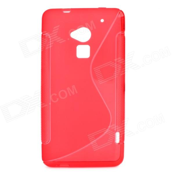 S Style Protective TPU Back Case for HTC One Max T6 / 8088 / 809D - Red matte protective pe back case for htc one x s720e red