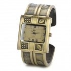 Retro Leaf Style Zinc Alloy Quartz Wrist Bracelet Watch - Antique Brass (1 x SR626SW)
