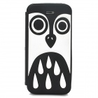 Cute Cartoon Owl Style Protective Silione Back Case for Iphone 5 / 5c / 5s - Black + White