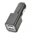 Dual USB 5V 2100mA Car Charger w/ USB 3.0 Cable for Samsung Galaxy Note 3 - Black (12~24V)