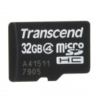 Transcend Micro SDHC Class 4 Memory Card - Black (32G)