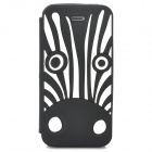 Cute Cartoon Zebra Style Protective Silione Back Case for Iphone 5 / 5c / 5s - Black + White