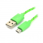 USB 2.0 Data/Charging Woven Mesh Cable for Google Nexus 7 / Nexus 7 II - Green