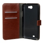 Protective PU Leather Case for Samsung Galaxy Note 2 N7100 - Brown