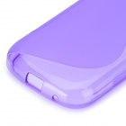 S Pattern Anti-slip TPU Back Case for Galaxy Trend Lite S7390 / S7932 - Purple