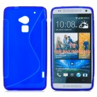 Stylish S Pattern Protective TPU Back Case for HTC One Max / T6 / 8088 / 809D - Blue