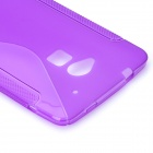 Stylish S Pattern Protective TPU Back Case for HTC One Max / T6 / 8088 / 809D - Purple