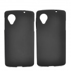 Protective PVC + TPU Back Case for LG Nexus 5 - Black (2 PCS)