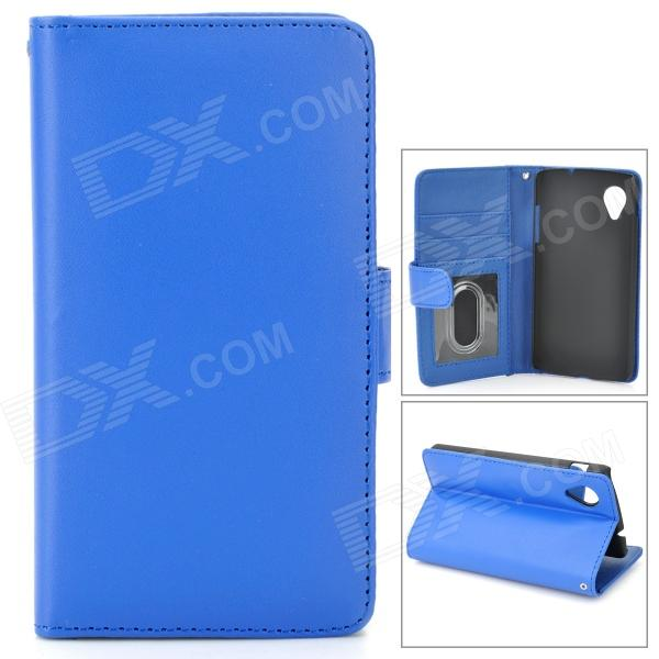 Protective PU Leather Case w/ Photo Frame for LG Nexus 5 - Blue