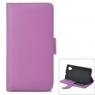 Stilvolle Simple Flip-open-PU-Lederetui w / Halter + Card Slot für LG Nexus 5 - Purple