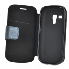 Protective PU Leather + TPU Case w/ Card Holder Slot for Samsung Galaxy S3 Mini i8190 - Black