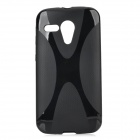 """X"" Style Protective Plastic Back Case for Moto G / Moto DVX - Black"