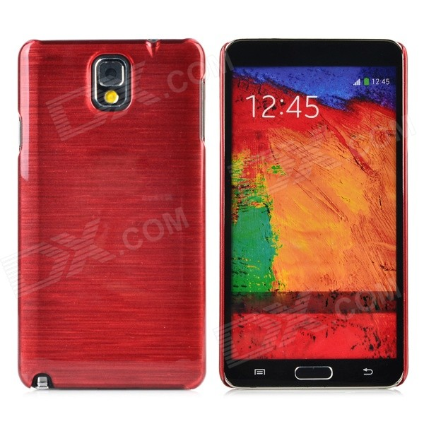 Horizontal Stripe Style Protective Plastic Back Case for Samsung Galaxy Note 3 - Wine Red horizontal stripe style protective plastic back case for samsung galaxy note 3 n9006 n9008 green