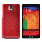 Horizontal Stripe Style Protective Plastic Back Case for Samsung Galaxy Note 3 - Wine Red
