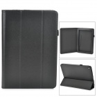 Lychee Grain Style Protective PU Leather Case for Acer Iconia A3 - Black