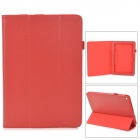 Lychee Grain Style Protective PU Leather Case for Acer Iconia A3 - Red