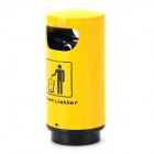 Trash Can Shaped Butane Gas Lighter - Yellow