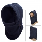 OUTFLY Windproof Polar Fleece Hood Neck Warmer Hat - Deep Blue