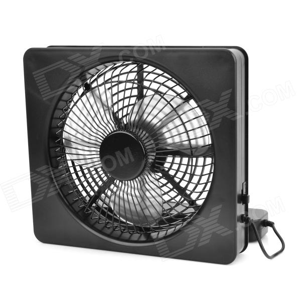 Lileng 821 USB Powered 3-Blade 2-Mode Fan - Black (4 x AA)