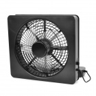 Lileng 821 USB Powered 3-Blade 2-Mode-Fan - Schwarz (4 x AA)