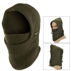 OUTFLY Windproof Polar Fleece Hood Neck Warmer Hat - Army Green