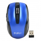 RF2185 2.4GHz 1600 / 2400dpi Wireless Gaming Mouse - Blue + Black