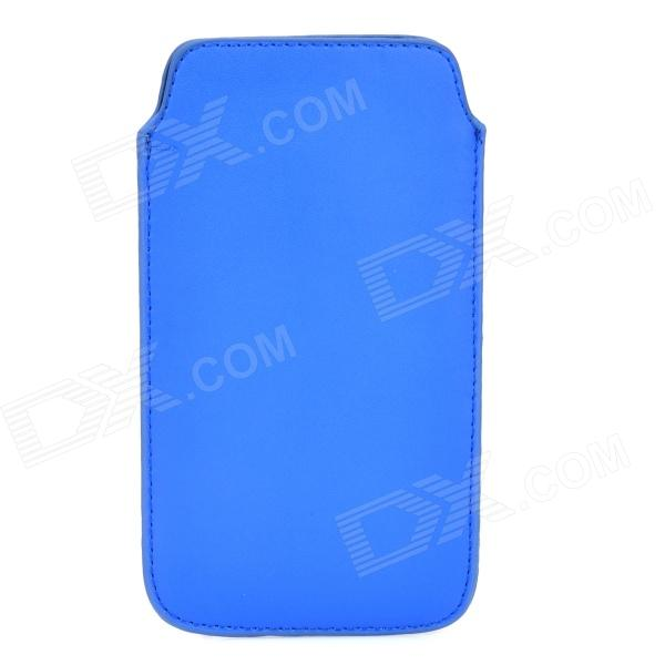 Protective PU Leather Pouch Bag for Samsung Galaxy S4 i9500 - Blue