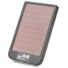 Solar Powered Portable External Aluminum Alloy ''2600mAh'' Power Bank w/ LED Indicator - Black
