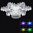XHYD Crystal Snowflake Shaped Decoration Colorful Light Night Lamp (2 x CR2032)