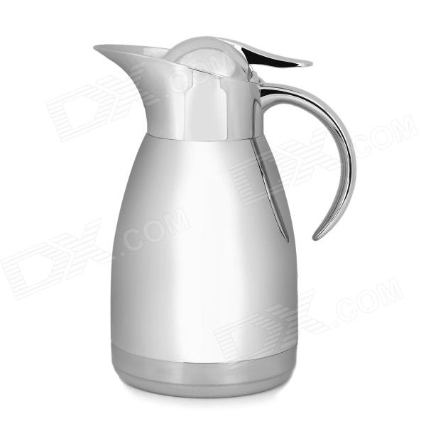 Stainless Steel + Silicone Vacuum Bottle / Pot - Silver (1.2L)
