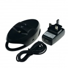 HighPro Dual Charge Station for SONY PlayStation 4 PS4 Controllers - Black (UK Plug / 100~250V)
