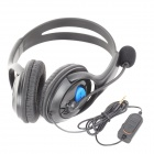 Professionale Wired Gaming Headset w / microfono per PS4 - nero (3.5mm / 120cm Cavo)